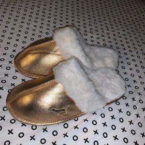 Gold VS slippers